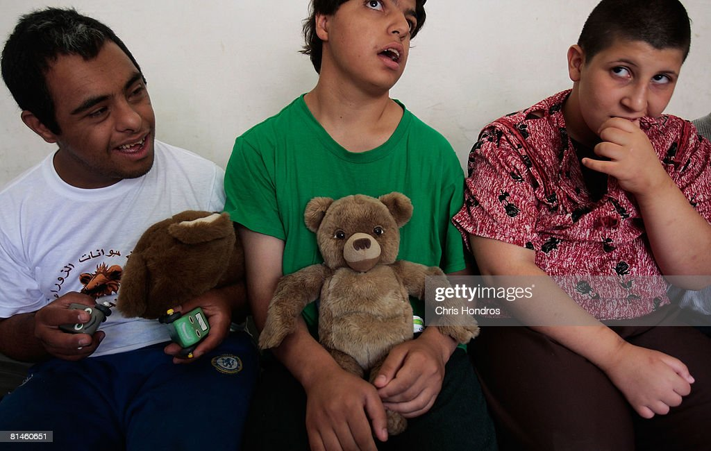 Mentally Retarded Children Live in Group Home in Baghdad : News Photo