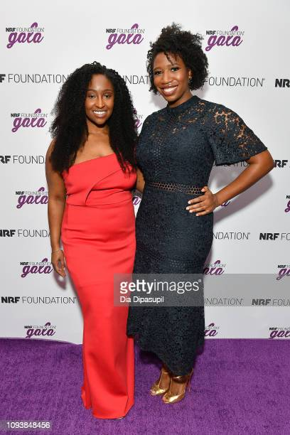 Mented Cosmetics cofounders KJ Miller and Amanda Johnson attend the 5th Annual NRF Foundation Gala at the Sheraton New York Times Square on January...