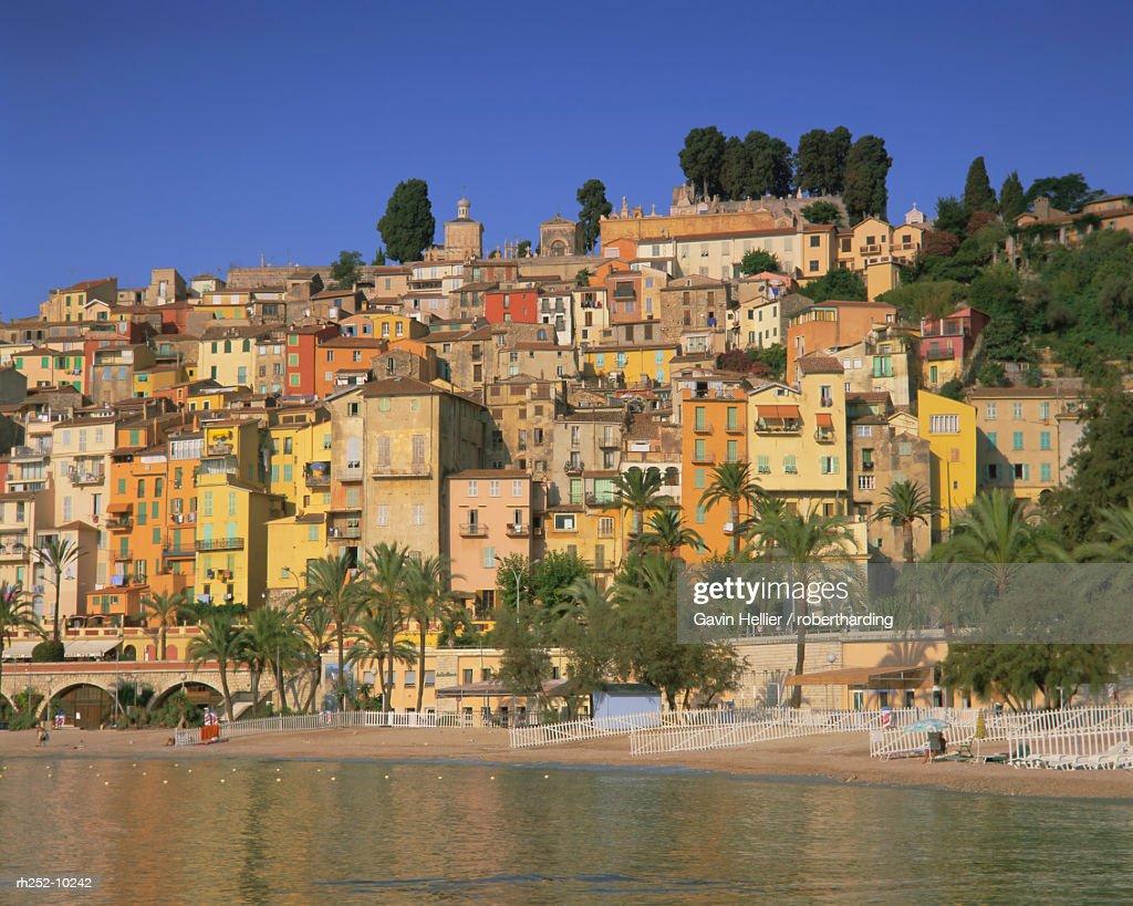 Menton, Alpes Maritimes, Cote dAzur, Provence, France, Europe : Foto de stock