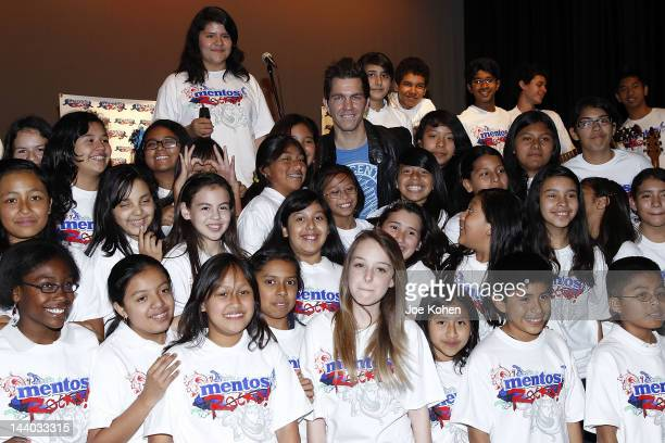 Mentos Ambasador musician Andy Grammer visits Bancroft Middle School on May 8 2012 in Los Angeles California