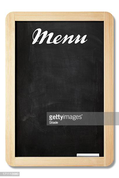Menu Board With Clipping Path