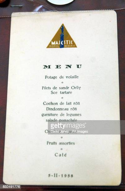 A menu card thought to be the last item signed by Manchester United's Busby Babes before the 1958 Munich air disaster dated 5th February 1958 is sold...