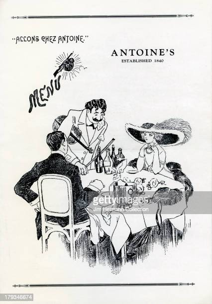 A menu for Antoine's reads 'Antoine's Menu' from 1939 in USA