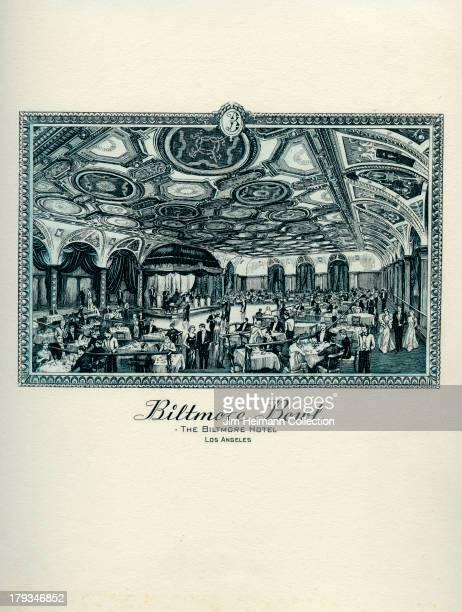 A menu for Biltmore Hotel Biltmore Bowl reads Biltmore Bowl Biltmore Hotel from 1942 in USA