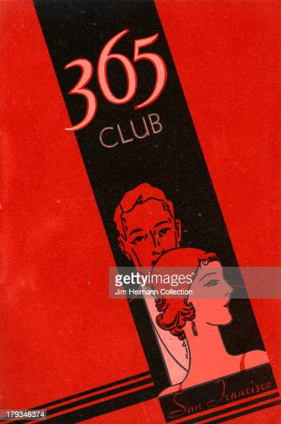 A menu for Bimbo's 365 Club reads 365 Club San Francisco from 1935 in USA