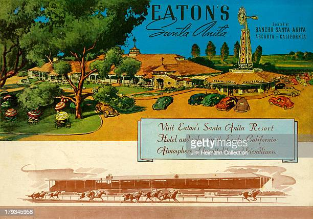 A menu for Eaton's Santa Anita reads' Eaton's Santa Anita' from 1936 in USA