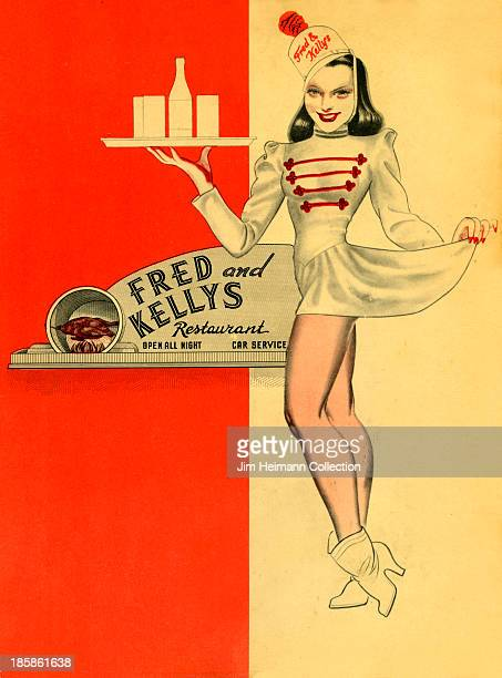 A menu for Fred and Kellys reads 'Fred and Kellys' from 1940 in USA