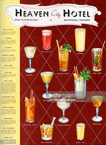 A menu for Heaven City Hotel reads 'Heaven City Hotel' from 1946 in USA