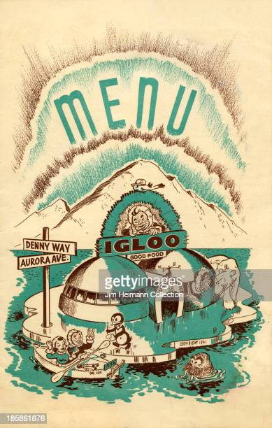 A menu for Igloo Good Food reads 'Igloo Good Food' from 1946 in USA
