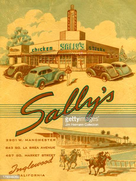 A menu for Sally's for 'Sally's Inglewood California' from 1939for USA