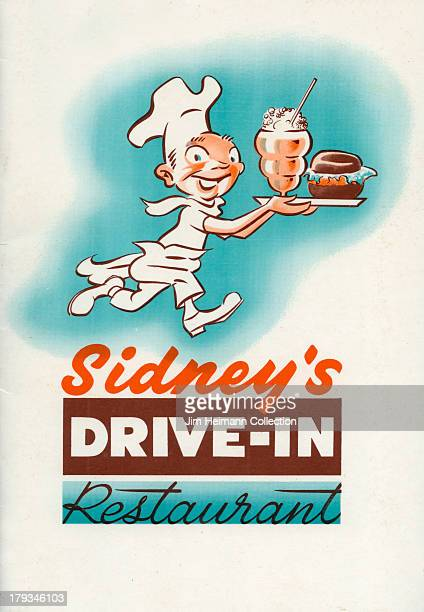 A menu for Sidney's DriveIn Restauarnt reads 'Sidney's DriveIn Restauarnt' from 1956 in USA
