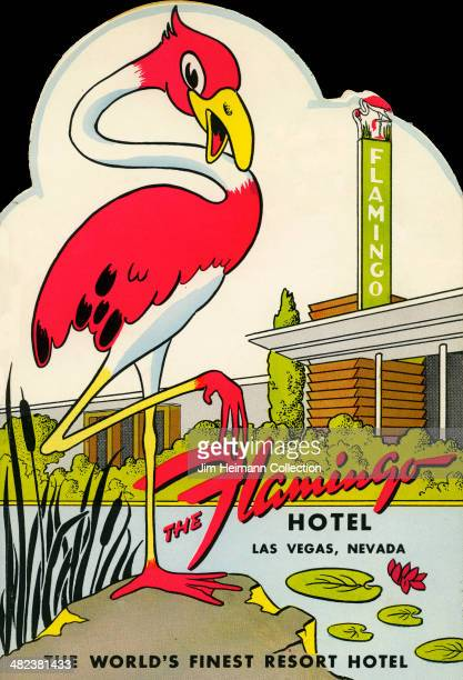 "Menu for The Flamingo Hotel reads ""The Flamingo Hotel"" from 1950 in USA."