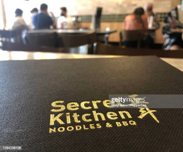 Menu on a table of The Secret Kitchen Chinese restaurant at Chadstone Shopping Centre in Melbourne where India players are supposed to have eaten...