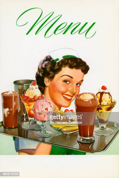 A menu reads'Menu' from 1956USA