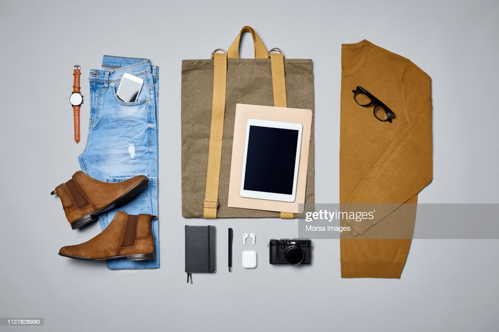 "Men""u2019s clothing and personal accessories : Stock Photo"
