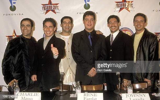 Menudo during Menudo Members Reunite for Press Conference for New Album and World Tour June 17 1998 at Fashion Cafe in New York City New York United...