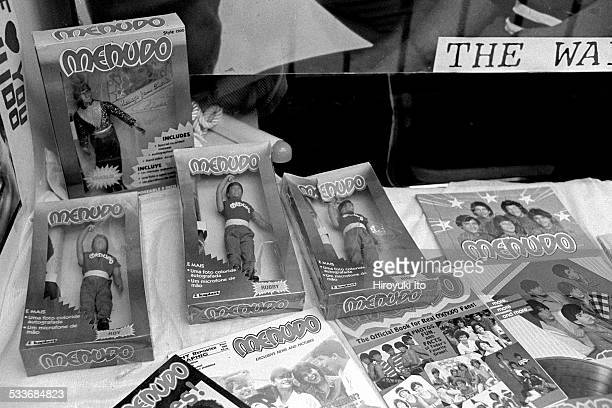 Menudo memorabilia displayed at Bolivar Arellano Gallery in East Village on August 10 1998