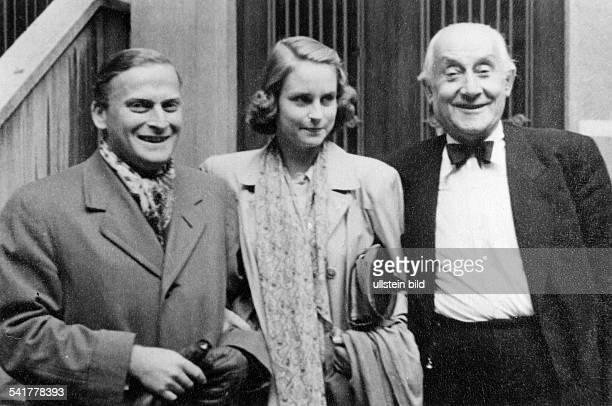 Menuhin, Yehudi *22.04..1999+Violinist, Dirigent, USA- mit seiner Frau und Herzberg- ohne Jahr