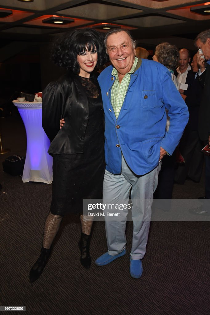 Meow Meow (L) and Barry Humphries attend the press night performance of 'Barry Humphries' Weimar Cabaret' at The Barbican Centre on July 12, 2018 in London, England.