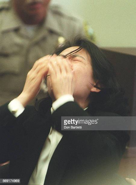 MEPengLisaDB9/6/96SantaAna Lisa Peng throws her head back and proclaims her innocence during her day long sentencing hearing in OC Superior Court...