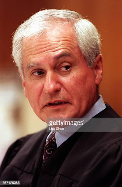 LS––Photo of Judge David Perez who will preside over the Ennis Cosby trial in Santa Monica Calif Photo taken 6/15/98Photo/Art by^^^PEREZ
