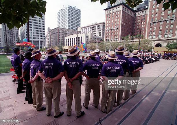 MEPershing0312GFLOS ANGELES ––The new Downtown Guides with Panama Jack hats and purple shirts will be patrolling the area around Pershing Square in...