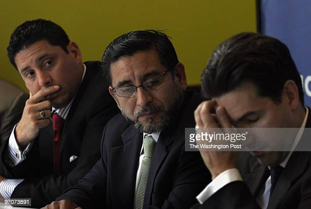 PWilliam DATE: August 14, 2007 CREDIT: Carol Guzy/ The Washington Post Manassas VA Press conference by prominent Hispanic business leaders. Left to...