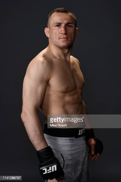 Merab Dvalishvili of Georgia poses for a portrait backstage during the UFC Fight Night event at Canadian Tire Centre on May 4 2019 in Ottawa Ontario...