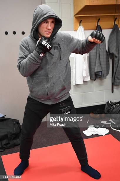 Merab Dvalishvili of Georgia warms up backstage during the UFC Fight Night event at Canadian Tire Centre on May 4 2019 in Ottawa Ontario Canada