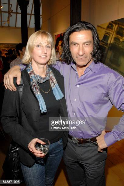 Mercada Laurence and Eric Allouche attend Opera Gallery Opening Voigt Monet and Vukelic at Opera Gallery on April 15 2010 in New York City