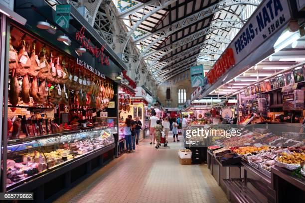 mercado central, valencia - tradition imagens e fotografias de stock