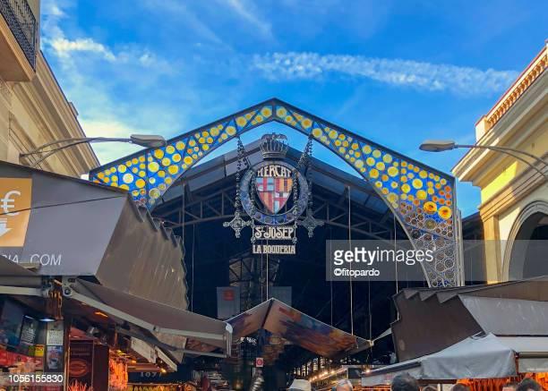 mercado de la boqueria - the ramblas stock pictures, royalty-free photos & images