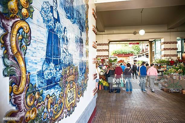 Mercado dos Lavradores ,Azulejo,  Funchal, Madeira.