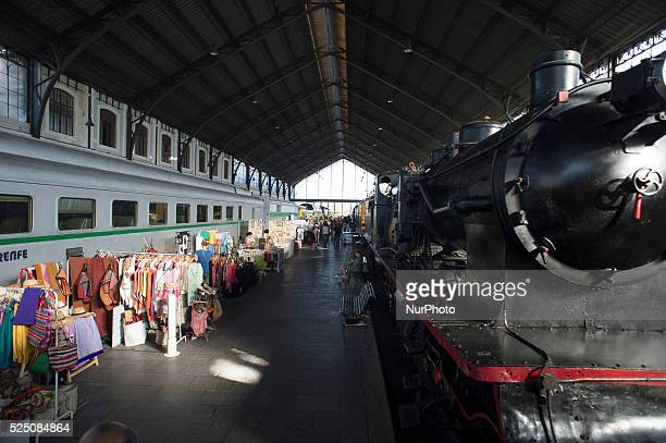'Mercado of Motores' is input of a different market segundamano retro items held on July 12 2015 in the Railway Museum of Madrid Spain