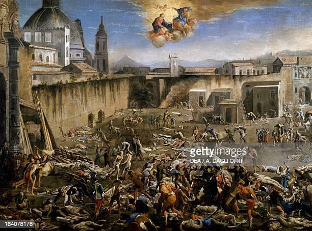Mercatello square in Naples during the plague by Micco Spadaro Italy 17th century Naples Museo Nazionale Di San Martino