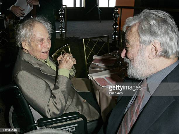 Merce Cunningham and Stephen Sondheim during 18th Annual Praemium Imperiale Arts Awards at The Rainbow Room in New York City New York United States