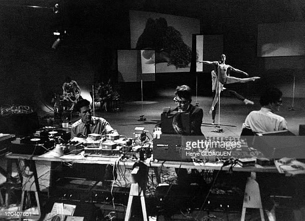 Merce Cunningham Dance Company in Hamburg Germany in 1966 Ballet ' Vaiations five ' of Merce Cunningham television studio Nordeuscherrunfunk Hamburg...