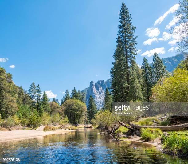 Merced River, Yosemite Valley, Yosemite National Park, UNESCO World Heritage Site, California, USA