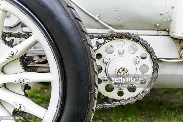"mercedes 120 hp classic 1906 racing car detail - ""sjoerd van der wal"" stock pictures, royalty-free photos & images"