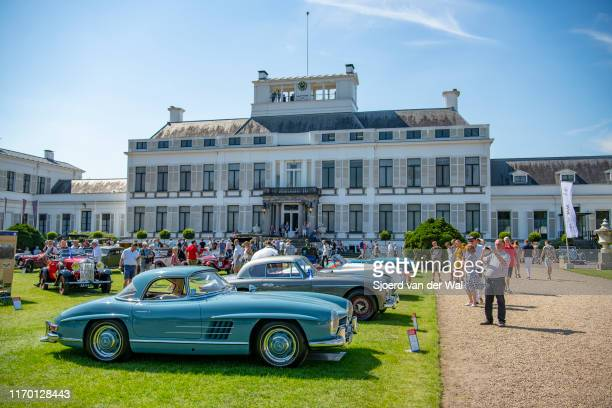 Mercedes 300 SL Gullwing classic sports car on display at the 2019 Concours d'Elegance at palace Soestdijk on August 25 2019 in Baarn Netherlands...