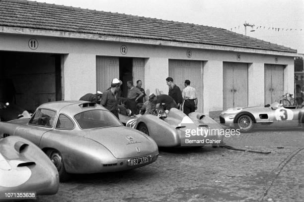 Mercedes 300 SLR, Mercedes W196 Streamlined, Mercedes W196, Grand Prix of Italy, Autodromo Nazionale Monza, 11 September 1955.