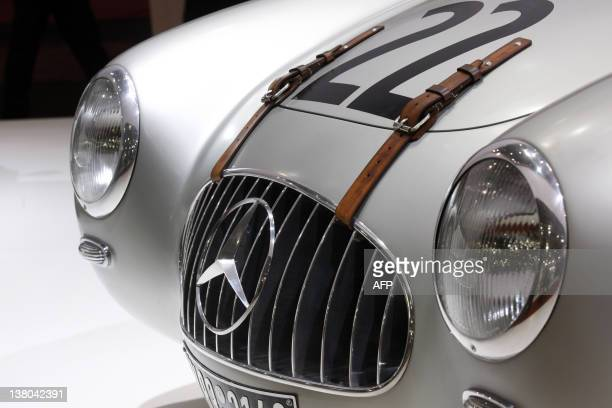A Mercedes 300SL built in 1952 is exhibited as part of the Paris Retromobile classic car show on February 1 2012 The fair takes place until February...