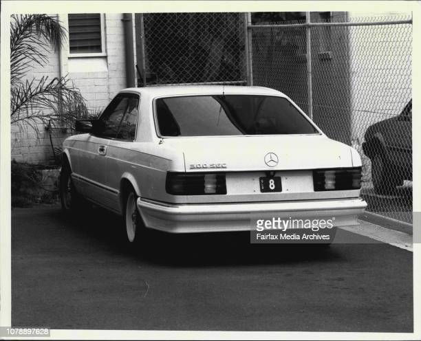 Mercedes 500 with license plate number 8 of Queensland seen here at 118 New South Head rd Double Bay November 18 1988