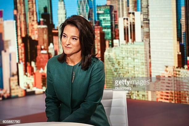 Mercedes Abramo chief executive officer of Cartier North America listens during a Bloomberg Television interview in New York US on Thursday Sept 15...