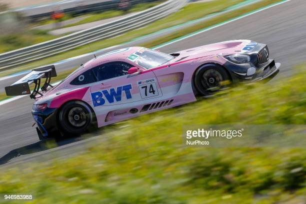 Mercedes AMG GT3 of HTP Motorsport / MS Racing driven by Alexander Hrachowina and Martin Konrad during Race 1 of International GT Open at the Circuit...