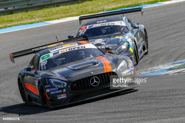 Mercedes AMG GT3 of Sports and You driven by Antonio Coimbra and Luis Silva during Race 1 of International GT Open at the Circuit de Estoril Portugal...