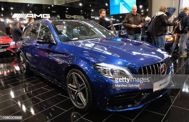 Mercedes AMG is displayed during the Vienna Autoshow as part of Vienna Holiday Fair on January 10 2019 in Vienna Austria The Vienna Autoshow will be...