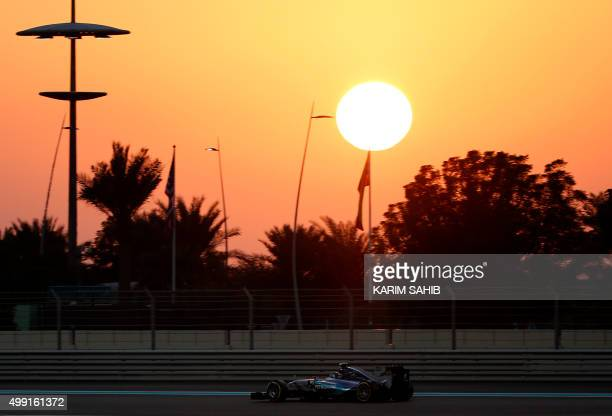 Mercedes AMG Petronas F1 Team's German driver Nico Rosberg races during the of the Abu Dhabi Formula One Grand Prix at the Yas Marina circuit on...
