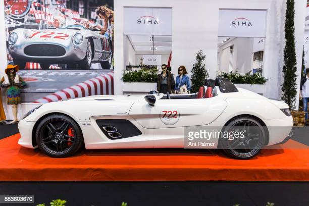 Mercedes AMG sports car on display at the Essen Motor Show on December 1 2017 in Essen Germany The Essen Motor Show is celebrating its 50th edition...