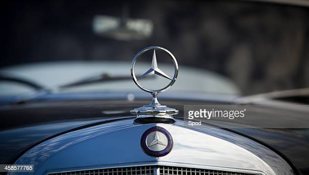 mercedes badge - hood ornament stock pictures, royalty-free photos & images
